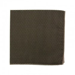 Brown with pin dot pocket square
