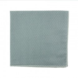Grey with pin dots pocket square