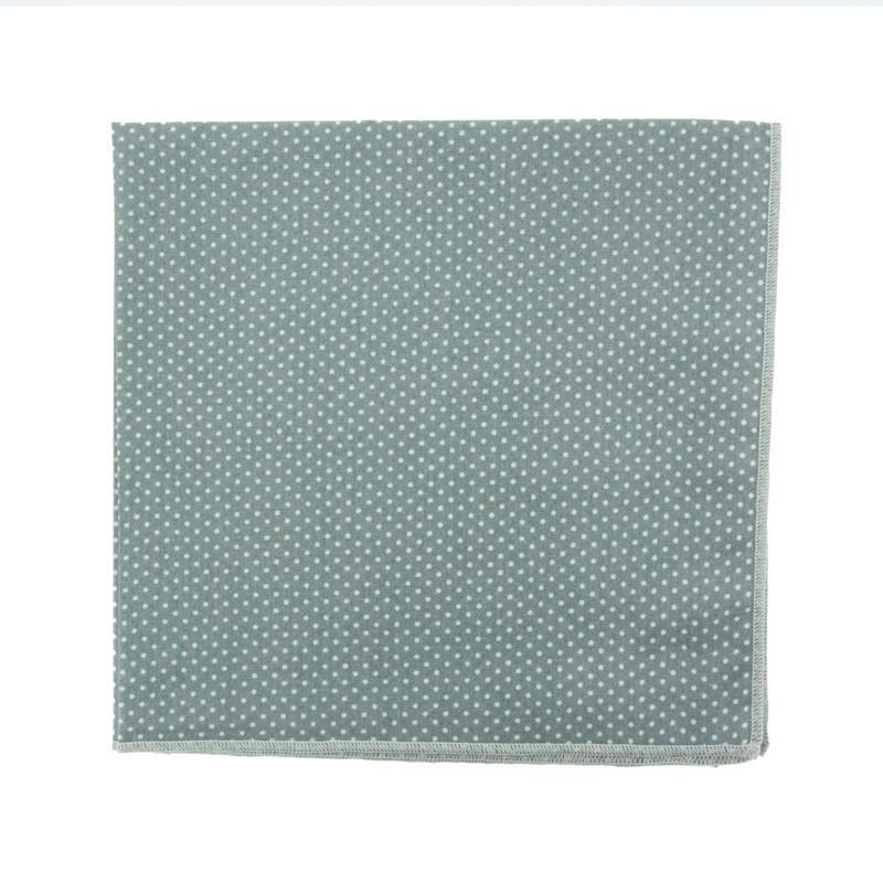 Grey with pin dots pocket square