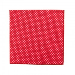 Red with pin dots pocket square
