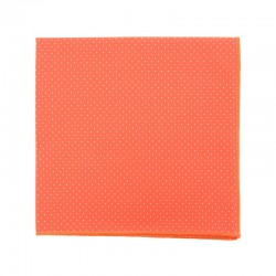 Coral with pin dots pocket square