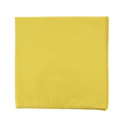 Absinthe Yellow with pin dots pocket square