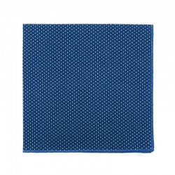 Medium blue with pin dots pocket square
