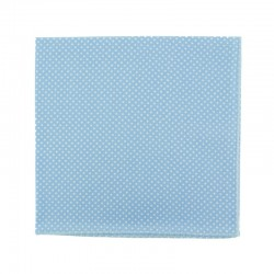 Baby blue with pin dots pocket square