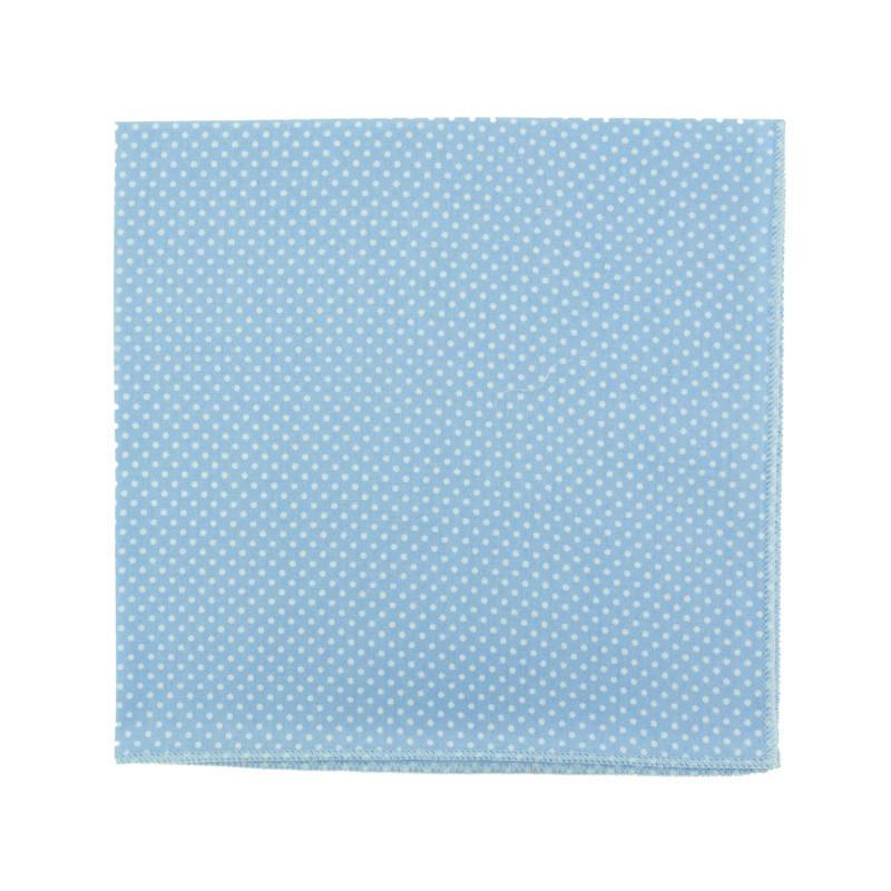 Pochette de costume Mini Pois Bleu ciel