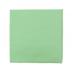 Almond green with pin dots pocket square
