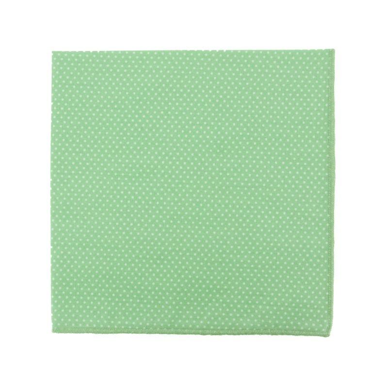 Pochette de costume Mini Pois Vert Amande