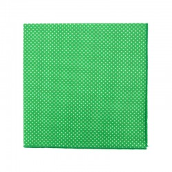 Grass green with pin dots pocket square
