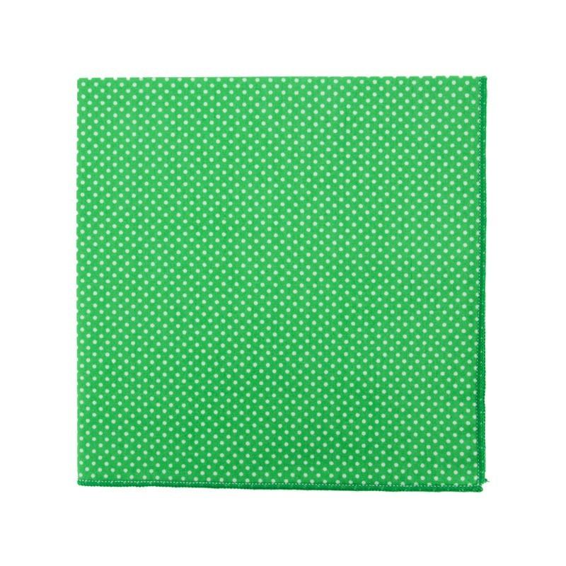 Pochette de costume Mini Pois Vert Gazon