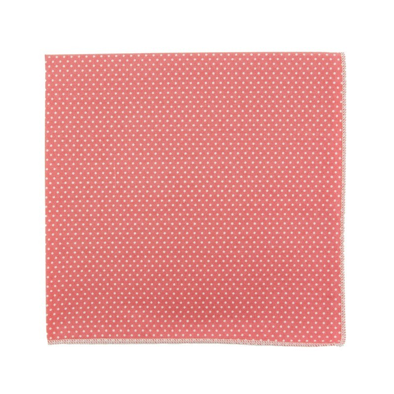 Medium pink with pin dots pocket square