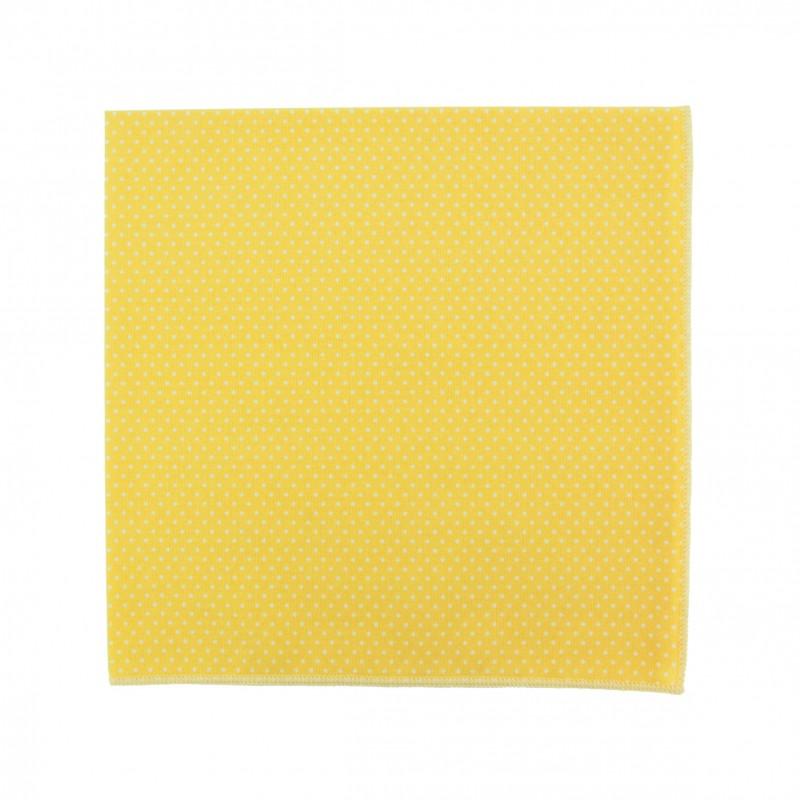 pochette de costume mini pois jaune soleil le colonel moutarde. Black Bedroom Furniture Sets. Home Design Ideas