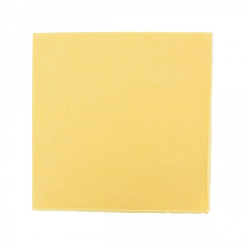Yellow Chambray pocket square
