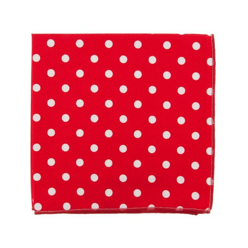 Pochette de costume Rouge à gros pois blancs