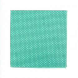Mint with pin dots pocket square