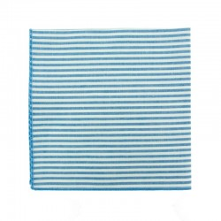Pochette de costume à rayures bleu azur