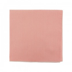 Baby pink with pin dots pocket square