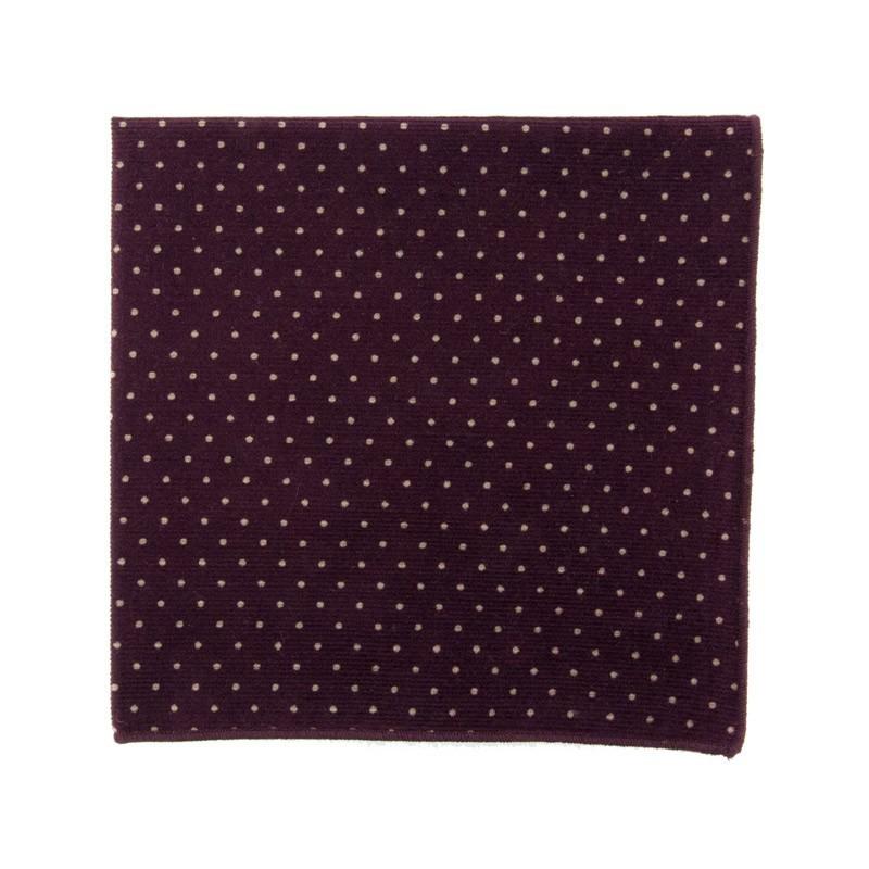 Pochette de costume Japonais Mini Pois Velours Violet