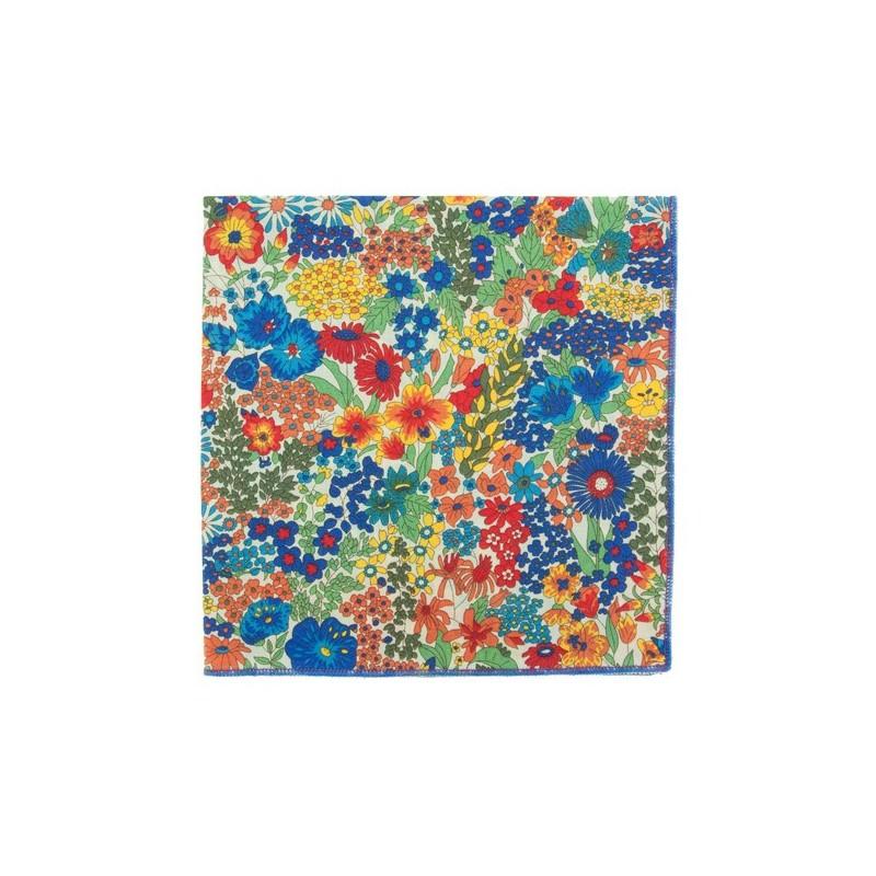 Multicoloured Margaret Liberty pocket square