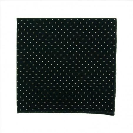 Black Velvet with dots Japanese Bow Tie