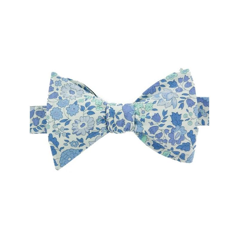 fe4cc236d212 Noeud Papillon Liberty Bleu Ciel Danjo