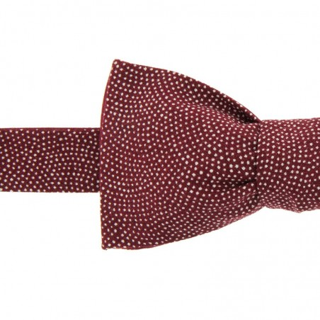 Burgundy Samekomon Japanese Bow Tie