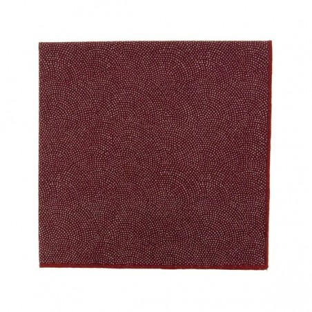 Burgundy Samekomon Japanese pocket square