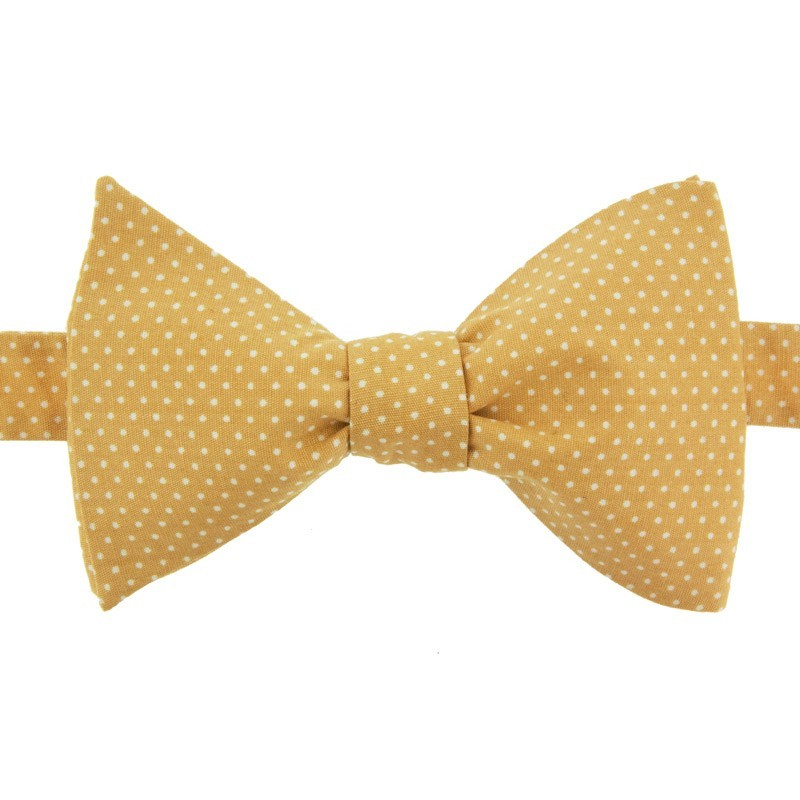 Noeud Papillon Mini Pois Jaune Moutarde