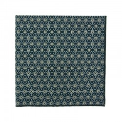 Navy blue Asanoha Japanese pocket square