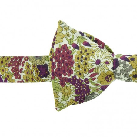 Noeud Papillon Liberty Margaret Violet / Vert