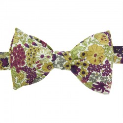 Purple/Green Margaret Liberty Bow Tie
