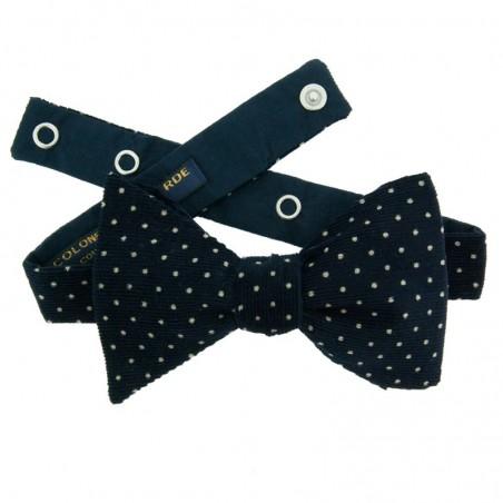 Navy Blue Velvet Japanese Bow tie