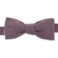Purple Samekomon Japanese Bow Tie