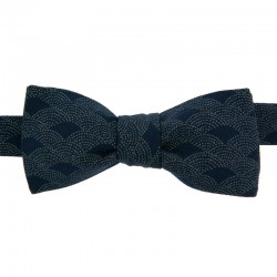 Dark blue Dotted Fan Bow tie