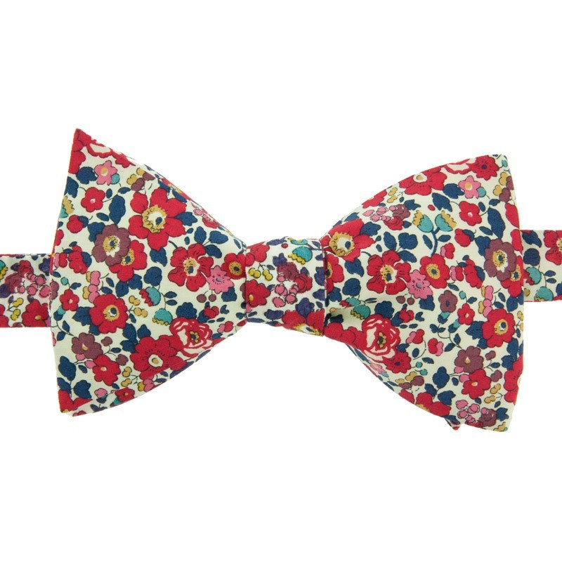 Noeud papillon liberty betsy ann rouge le colonel moutarde - Noeud papillon rouge enfant ...