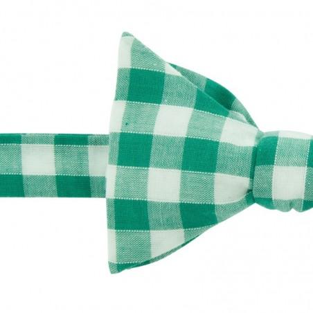 Noeud Papillon Gros Vichy Vert