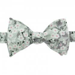 Light Grey Mitsi Liberty Bow Tie