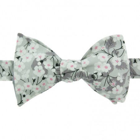 Noeud Papillon Liberty Mitsi Gris Clair