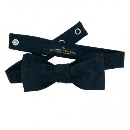 Dark Blue Thin Stripe Japanese Bow tie