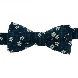 Navy blue Sakura Japanese Bow Tie