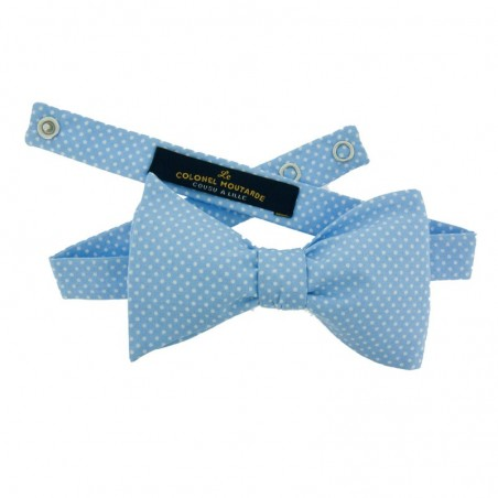 Pale Blue with Pin Dots Bow Tie
