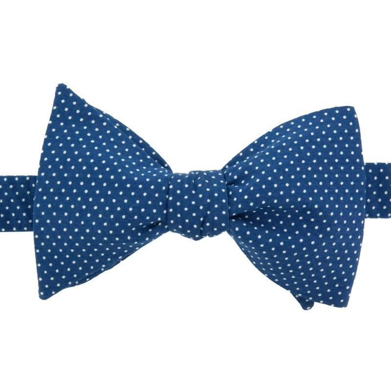 Noeud Papillon Mini Pois Bleu Moyen