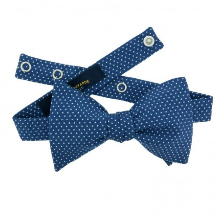 Medium Blue with Pin Dots Bow Tie