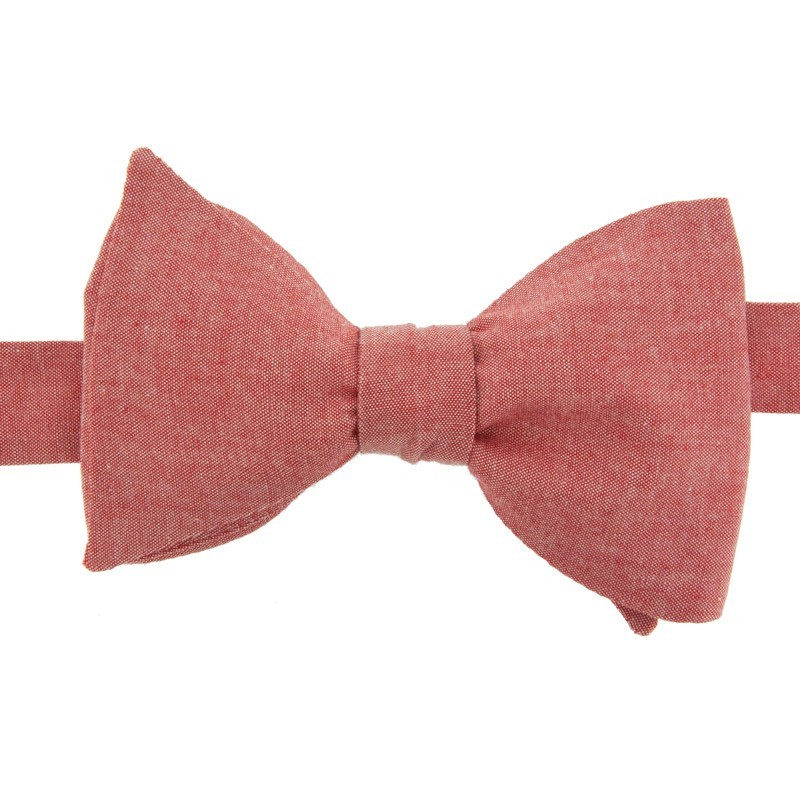Noeud papillon chambray rouge le colonel moutarde - Noeud papillon rouge enfant ...