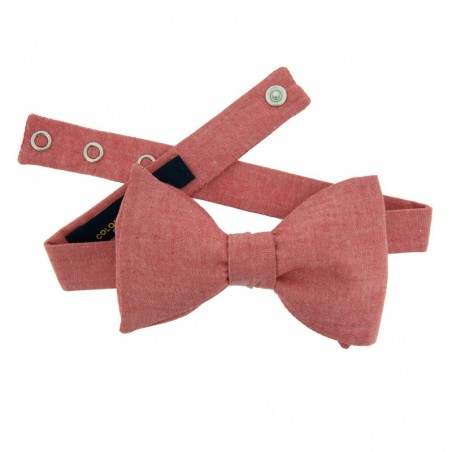 Noeud Papillon Chambray Rouge