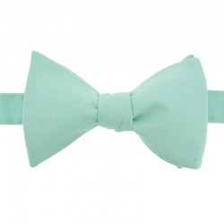Mint chambray bow tie