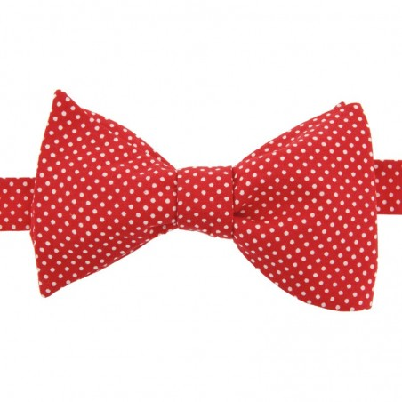 Noeud Papillon Mini Pois Rouge