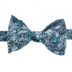 Blue Graffiti Bow Tie