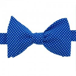 Royal Blue with Pin Dots Bow Tie