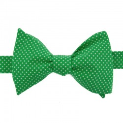 Eden Green with White Pin Dots Bow Tie