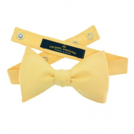 Yellow chambray bow tie